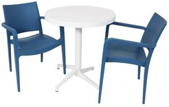 Sunnydaze All-Weather Landon 3-Piece Indoor/Outdoor Table and Chair Set