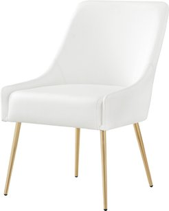 Set of 2 Inspired Home Mazolini Leather Dining Chair