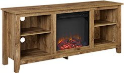 58in Rustic Farmhouse Fireplace TV Stand