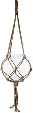 Carice Ball Hanging Glass and Rope Transparent Large