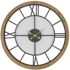 Rustic Reflections Wood Round Wall Clock