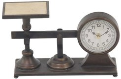 Rustic Reflections Metal And Wood Scale Clock