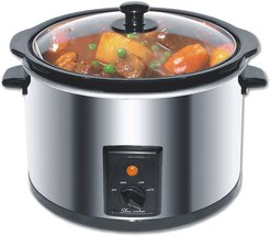Narita Electric Stainless Steel 5.5qt Slow Cooker