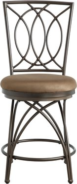 Powell Seth Big and Tall Metal Crossed Legs Counter Stool