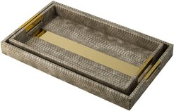 R16 Home Snake Skin Tray Set
