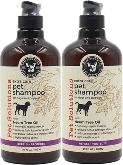 Precious Tails Pet Solutions Insect Repellent Pet Shampoo with Neem Tree Oil
