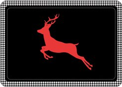 Bungalow Flooring Holiday Houndstooth Mat