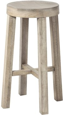 Mercana Furniture & Decor Brahma 30In Total Height Washed Wood Seat & Base  Stool