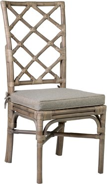 Set of 2 Carla Rattan Side Chairs