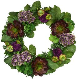 Creative Displays 28in Wreath With Flowers And Succulents