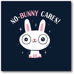 No Bunny Cares Gallery-Wrapped Canvas Wall Art