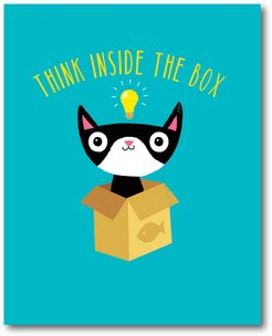 Think Outside The Box Gallery-Wrapped Canvas Wall Art
