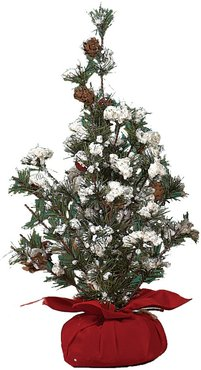 Transpac Holiday Floral Small Tree in Gift Bag with Berries