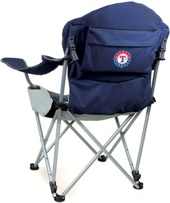 Picnic Time Texas Rangers Reclining Chair with Carrying Tote