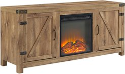 58in Rustic Modern Farmhouse Fireplace TV Stand