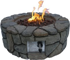 TODAYS FIX Peaktop Outdoor Stone Propane Gas Fire Pit