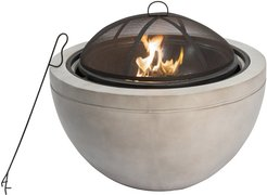 """Peaktop Outdoor 30"""" Round Wood Burning Fire Pit"""