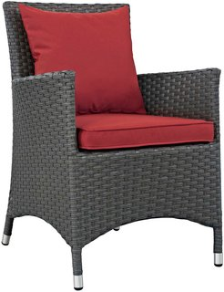 Modway Sojourn Dining Outdoor Patio Wicker Rattan Sunbrella? Armchair
