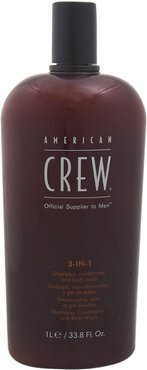American Crew 33.8oz 3-in-1 Shampoo & Conditioner & Body Wash