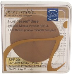Jane Iredale 0.35oz Fawn PurePressed Base Mineral Powder Refill with SPF 20