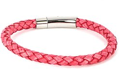 Jean Claude Stainless Steel Leather Wrap Bracelet