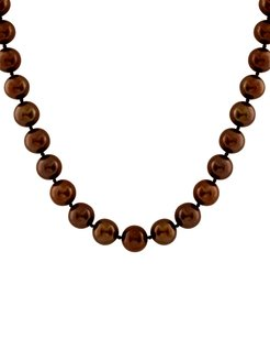 Splendid Pearls Plated 9-10mm Freshwater Pearl Necklace