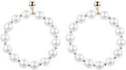 Eye Candy LA Diana Fresh Water Pearl Loop Earrings