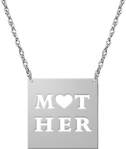 Jane Basch Just Say It Silver Pendant