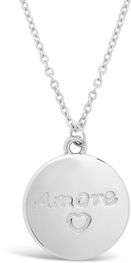 Sterling Forever Silver Amore Pendant Necklace