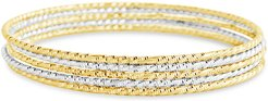 Sterling Forever 14K & Rhodium Plated Bracelet