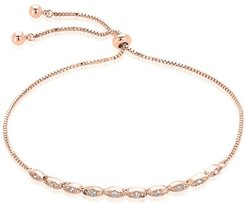 Sterling Forever 14K Rose Gold Plated CZ Bracelet