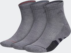 Cushioned 2.0 Color Quarter Socks 3 Pairs Medium Grey L