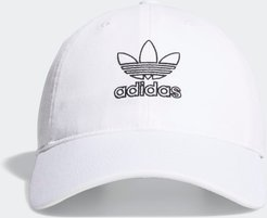 Relaxed Outline Hat White