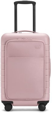 The Carry-On with Pocket in Blush leather