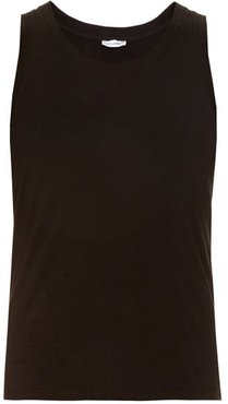 Set Of Two Cotton-jersey Tan Tops - Mens - Black