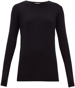 Long-line Fine-knit Cashmere Sweater - Womens - Navy
