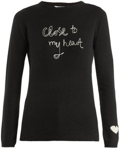 Close To My Heart Cashmere Sweater - Womens - Black