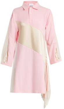 Lace-trimmed Oversized Cotton Shirtdress - Womens - Pink White