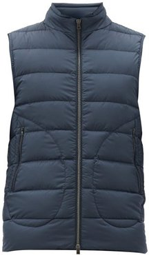 Legend Quilted Down Gilet - Mens - Navy