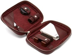 Shoe Care Leather Travel Case - Mens - Burgundy