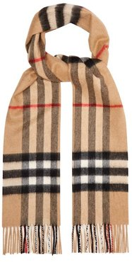 Giant Checked-cashmere Scarf - Womens - Beige