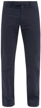 Slim-fit Stretch-cotton Chino Trousers - Mens - Navy
