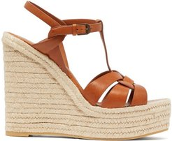 Tribute Leather Wedge Espadrilles - Womens - Tan