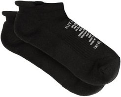 Wool-blend Ankle Socks - Mens - Black
