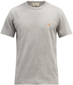 Fox Head-patch Cotton-jersey T-shirt - Mens - Grey