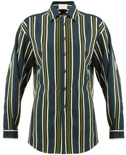 Ransvik Striped Shirt - Womens - Green Stripe