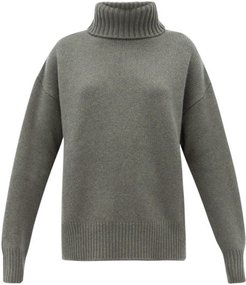 No. 20 Oversize Xtra Stretch-cashmere Sweater - Womens - Khaki