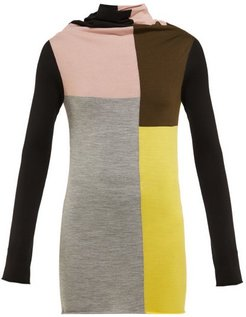 Colour-block Wool Sweater - Womens - Multi