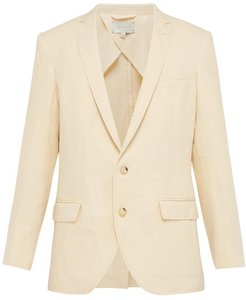 The Eli Single-breasted Linen Blazer - Mens - Cream