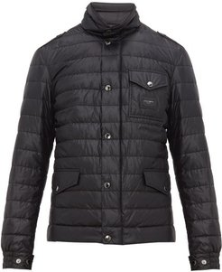 Multi-pocket Quilted-down Field Jacket - Mens - Black